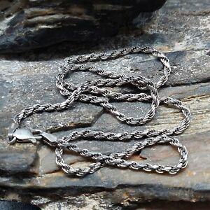 Sterling Silver Rope Chain Necklace Fine Men's Women's Lot