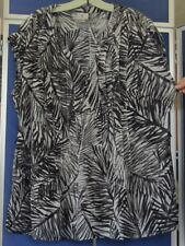 EUC Semi-Sheer TUNIC TOP w;attached CAMI by WORTHINGTON WOMAN Sz 1X Blk GRAY Wht