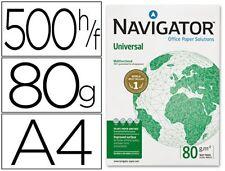 5 PAQ. PAPEL NAVIGATOR DIN A4 80 GRAMOS -PAQUETE DE 500 H (28233) ALTA CALIDAD