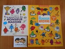 Lot 2 Livres LE GRAND LIVRE DES MONSIEURS MADAME + CHERCHE ET TROUVE T2 HACHETTE