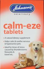 Johnson's Calm-eze Calming Relief Tablets Nervous Hyperactive Dogs and Cats