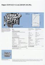 Prospetto DATI TECNICI SCHEDA TECNICA CAMION MERCEDES 2635 K 6x4 Kipper data sheet