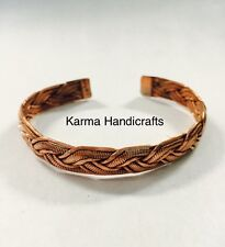 Tibetan Buddhist Tribal Copper Bracelet Bangle Cuff Adjustable Handmade Nepal B5