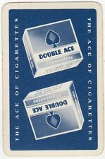 Playing Cards 1 Single Swap Card - Vintage DOUBLE ACE Cigarettes Smoking Tobacco