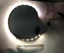 "Warm White LED Strip 14"" Long 21 LEDs  fits G Scale  Passenger Car"