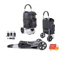Pliable 2 roues Léger Shopping Trolley Bagage Étui Sac Panier imprimé NEUF