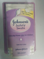Johnson & Johnson Safety Swabs, 55 Count