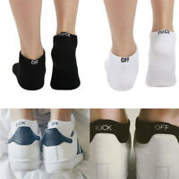 Unisex Hosiery Knit Sport Socks Fashion Men Women Fuck-off Design Print Funny