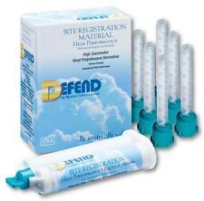 BITE REGISTRATION MATERIAL- 2X50ML CARTRIDGE+MIXING TIPS-REGULAR -DEFEND-FDA