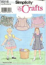Simplicity Children's Apron Pattern Sizes 3 through 8 #8916
