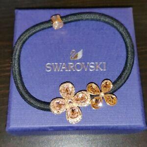 NEW SWAROVSKI Crystal Flowers Hair Tie