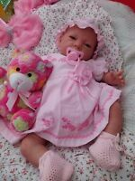 SUNBEAMBABIES CHILDS LIFELIKE HEAVY BABY GIRL DOLL FIRST REBORN CHOOSE YOUR EYES