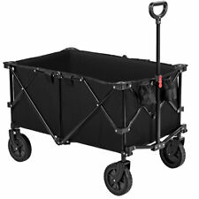 Collapsible Folding Wagon Cart Outdoor Utility Garden Trolley Buggy Shopping Toy