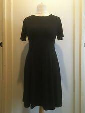 ASOS DESIGN Ultimate Mini Fit & Flare Tea Dress Size 14 Uk BNWT RRP £19 Black