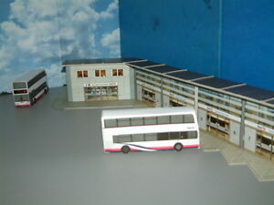 1/76 Scale Bus Station Card Kit,Self Assembly with Paving, For Any Bus Company