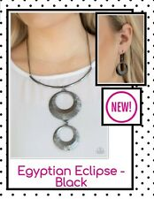 paparazzi jewelry necklace and earring set (New) ☆ Egyptian Eclipse Black
