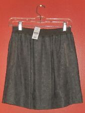 NEW WITH TAGS $198 ~ GENERRA CROCHET LACE GRAY SKIRT COTTON & SILK ~ SIZE M