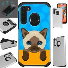 Fusion Case For Samsung Phone Cover+Screen Protector/ Cute Cat Birman