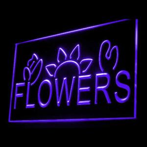 200031 Flower Shop Florist Paradise Petals Bauhinia Display Neon Sign
