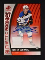 2017-18 UD SP Game Used Red Auto Jersey Authentic Rookies #161 Jordan Schmaltz
