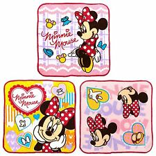 Japan Disney Minnie Mouse Girls Time Hand Towel Set Cotton Baby Bath Face Cloth