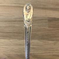 "Presidential Silver Plated 6"" Spoon - John F. Kennedy Friendship NASA WM Rogers"
