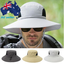 AU Mens Women Wide Brim Sun Protection Boonie Hat Outdoor Camping Fishing Caps