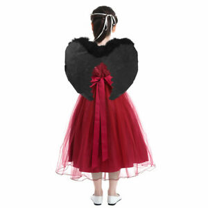 Feather Angel Wings Fancy Dress Costume Fairy Kids Adults Halloween Christmas
