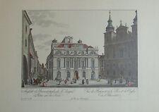 Carl Schütz AUSSICHT DES UNIVERSITAETSGEBAEUDES Wien Kunstblatt Reproduktion