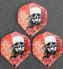 5 Packets of Brand New Ruthless Invincible Darts Flights - Red Skull