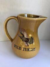 WILD TURKEY BOURBON WHISKEY Pitcher FINE STAFFORDSHIRE pottery from England