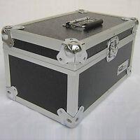 "1 X NEO Aluminum Black Vinyl 7"" Storage for 300 Records Singles DJ Carry Case"