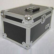"""1 x Neo Aluminio Negro de almacenamiento para 300 Vinilo Lp los registros de 7 """"Dj Vuelo llevar Funda"""