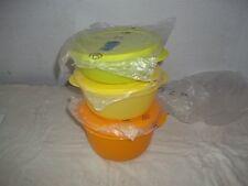 Set de 3 grands bols CrystalWave Tupperware
