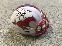 James Proche SIGNED SMU Mustangs Football Mini Helmet Autographed NFL Draft