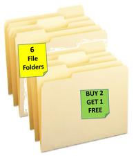6 Generic Manila File Folders Buy 2 Get 1 Free