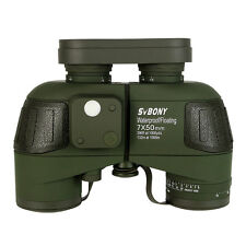 7x50 Military Waterproof Floating Marine Binoculars W/Rangefinder & Compass AU
