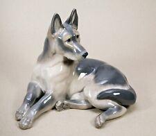 Extremely Rare Royal Copenhagen German Shepherd Dog Figurine Knud Kyhn #2803