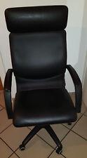 Bürosessel Leder Ikea Aras schwarz Bürostuhl Drehstuhl Chefsessel