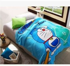 Doraemon play ball coral fleece Bed blanket rug blankets 200x150CM warm soft