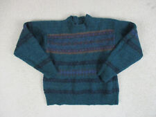 VINTAGE Pendleton Sweater Youth Large Green Purple Wool Pullover Kids Boys