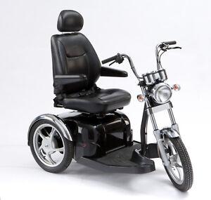 Drive Sports Rider Heavy Duty Long Range Mobility Scooter 3 Wheel 8mph - Black