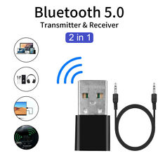 USB Bluetooth 5.0 3.5mm Jack AUX Audio Receiver Transmitter Wireless Adapter HQ