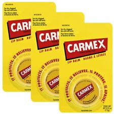 3 x Carmex JAR Orignal formula Lip Balm Moisturising Dry lips 7.5g / 0.26oz USA