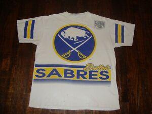Vintage 90's Buffalo Sabres All Over Print T Shirt XL