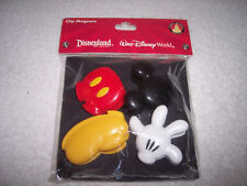DISNEY PARKS MICKEY MOUSE PARTS CLIP MAGNETS~ GLOVE, HEAD, SHOE & PANTS~NEW