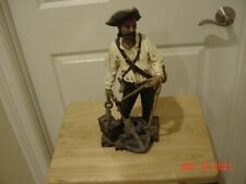 16 inch pirate statue with anchor & treasure chest