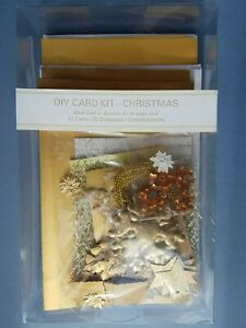 Christmas Craft Card Making Kit - 20 cards with envelopes Gold Star Snowflake
