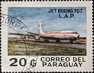 Stamp Paraguay SG1222 1980 20G Boeing 707 Paraguay Airlines Used