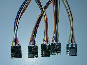 5 Stück --- Lenz 10310-02 Silver Mini Lokdecoder